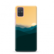 "Samsung Galaxy A71 Unique Silicone Case 1.0 mm ""u-case Airskin Mountains 2 design"""