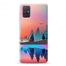 "Samsung Galaxy A71 Unique Silicone Case 1.0 mm ""u-case Airskin Nature 5 design"""