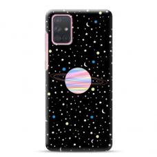 "Samsung Galaxy A71 Unique Silicone Case 1.0 mm ""u-case Airskin Planet design"""