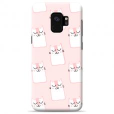 "Samsung Galaxy a8 2018 silicone phone case with unique design 1.0 mm ""u-case Airskin Pink Kato design"""