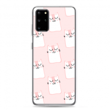 "Samsung Galaxy Note 10 Lite silicone phone case with unique design 1.0 mm ""u-case Airskin Pink Kato design"""