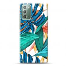 "Samsung Galaxy Note 20 Unique Silicone Case 1.0 mm ""u-case Airskin Leaves 1 design"""