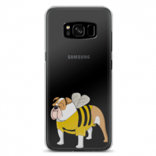 "Samsung Galaxy note 8 silicone phone case with unique design 1.0 mm ""u-case Airskin Doggo 1 design"""