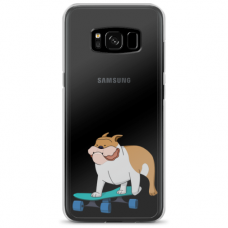 "Samsung Galaxy note 8 silicone phone case with unique design 1.0 mm ""u-case Airskin Doggo 2 design"""