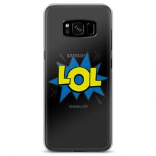 "Samsung Galaxy note 8 silicone phone case with unique design 1.0 mm ""u-case Airskin LOL design"""