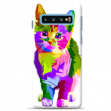 "Samsung Galaxy S10 Plus Unique Silicone Case 1.0 mm ""u-case Airskin Kitty design"""
