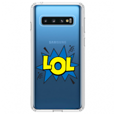 "Samsung Galaxy S10 Plus Unique Silicone Case 1.0 mm ""u-case Airskin LOL design"""