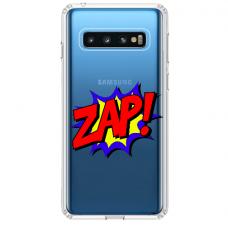 "Samsung Galaxy S10 Plus Unique Silicone Case 1.0 mm ""u-case airskin ZAP design"""