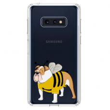 "Samsung Galaxy S10 silicone phone case with unique design 1.0 mm ""u-case Airskin Doggo 1 design"""
