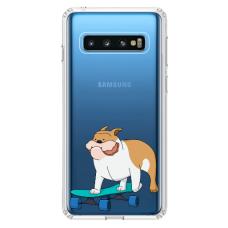 "Samsung Galaxy S10 silicone phone case with unique design 1.0 mm ""u-case Airskin Doggo 2 design"""