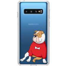 "Samsung Galaxy S10 silicone phone case with unique design 1.0 mm ""u-case Airskin Doggo 5 design"""