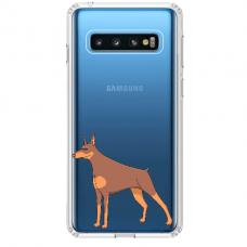 "Samsung Galaxy S10 silicone phone case with unique design 1.0 mm ""u-case Airskin Doggo 6 design"""