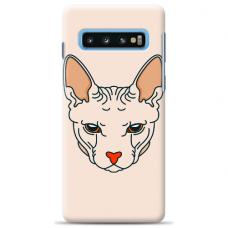"""Samsung Galaxy S10 silicone phone case with unique design 1.0 mm """"u-case Airskin Kato design"""""""
