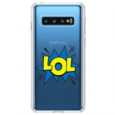 "Samsung Galaxy S10 silicone phone case with unique design 1.0 mm ""u-case Airskin LOL design"""