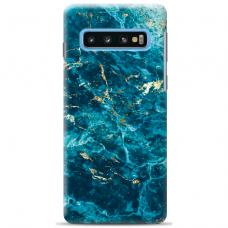 "Samsung Galaxy S10 silicone phone case with unique design 1.0 mm ""u-case Airskin Marble 2 design"""