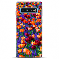"Samsung Galaxy S10 silicone phone case with unique design 1.0 mm ""u-case Airskin Nature 2 design"""