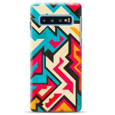 "Samsung Galaxy S10 silicone phone case with unique design 1.0 mm ""u-case Airskin Pattern 7 design"""