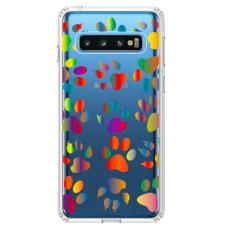 "Samsung Galaxy S10 silicone phone case with unique design 1.0 mm ""u-case Airskin PAW design"""