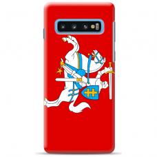 "Samsung Galaxy S10 silicone phone case with unique design 1.0 mm ""u-case Airskin Vytis design"""
