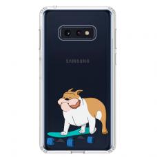 """Samsung Galaxy S10e silicone phone case with unique design 1.0 mm """"u-case Airskin Doggo 2 design"""""""