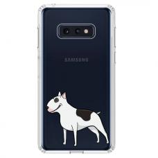 """Samsung Galaxy S10e silicone phone case with unique design 1.0 mm """"u-case Airskin Doggo 3 design"""""""