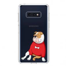"""Samsung Galaxy S10e silicone phone case with unique design 1.0 mm """"u-case Airskin Doggo 5 design"""""""