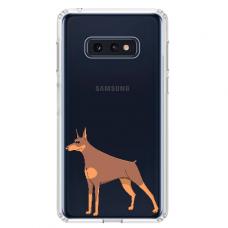 """Samsung Galaxy S10e silicone phone case with unique design 1.0 mm """"u-case Airskin Doggo 6 design"""""""