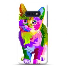 """Samsung Galaxy S10e silicone phone case with unique design 1.0 mm """"u-case Airskin Kitty design"""""""