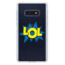 """Samsung Galaxy S10e silicone phone case with unique design 1.0 mm """"u-case Airskin LOL design"""""""