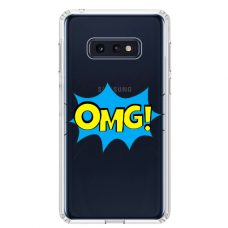 "Samsung Galaxy S10e silicone phone case with unique design 1.0 mm ""u-case Airskin OMG design"""