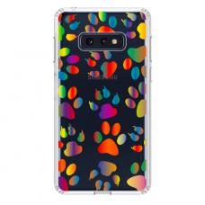 """Samsung Galaxy S10e silicone phone case with unique design 1.0 mm """"u-case Airskin PAW design"""""""