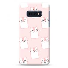 """Samsung Galaxy S10e silicone phone case with unique design 1.0 mm """"u-case Airskin Pink Kato design"""""""