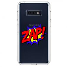 """Samsung Galaxy S10e silicone phone case with unique design 1.0 mm """"u-case airskin ZAP design"""""""