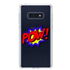 """Samsung Galaxy S10e silicone phone case with unique design 1.0 mm """"u-case airskin POW design"""""""