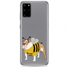 "Samsung Galaxy S20 plus silicone phone case with unique design 1.0 mm ""u-case Airskin Doggo 1 design"""