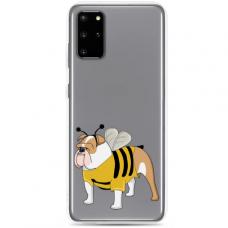 "Samsung Galaxy S20 silicone phone case with unique design 1.0 mm ""u-case Airskin Doggo 1 design"""