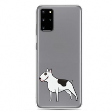 "Samsung Galaxy S20 silicone phone case with unique design 1.0 mm ""u-case Airskin Doggo 3 design"""