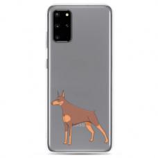 "Samsung Galaxy S20 silicone phone case with unique design 1.0 mm ""u-case Airskin Doggo 6 design"""
