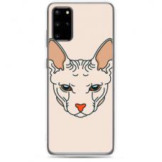 """Samsung Galaxy S20 silicone phone case with unique design 1.0 mm """"u-case Airskin Kato design"""""""