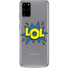 "Samsung Galaxy S20 silicone phone case with unique design 1.0 mm ""u-case Airskin LOL design"""