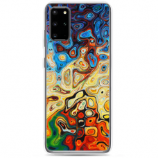 "Samsung Galaxy S20 silicone phone case with unique design 1.0 mm ""u-case Airskin Pattern 1 design"""