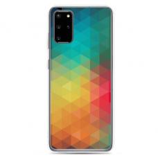 "Samsung Galaxy S20 silicone phone case with unique design 1.0 mm ""u-case Airskin Pattern 3 design"""
