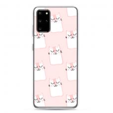 "Samsung Galaxy S20 silicone phone case with unique design 1.0 mm ""u-case Airskin Pink Kato design"""