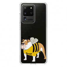 "Samsung Galaxy S20 ultra silicone phone case with unique design 1.0 mm ""u-case Airskin Doggo 1 design"""