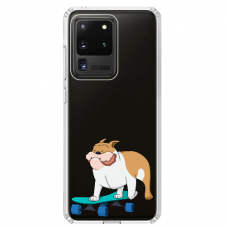 "Samsung Galaxy S20 ultra silicone phone case with unique design 1.0 mm ""u-case Airskin Doggo 2 design"""