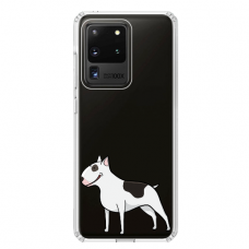 "Samsung Galaxy S20 ultra silicone phone case with unique design 1.0 mm ""u-case Airskin Doggo 3 design"""
