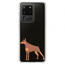 "Samsung Galaxy S20 ultra silicone phone case with unique design 1.0 mm ""u-case Airskin Doggo 6 design"""