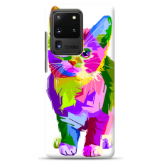 "Samsung Galaxy S20 ultra silicone phone case with unique design 1.0 mm ""u-case Airskin Kitty design"""