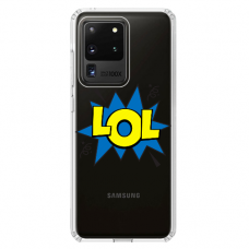 "Samsung Galaxy S20 ultra silikona tālruņa vāciņš ar unikālu dizainu 1,0 mm ""u-case Airskin LOL design"""