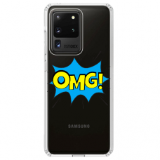 "Samsung Galaxy S20 ultra silikona tālruņa vāciņš ar unikālu dizainu 1,0 mm ""u-case Airskin OMG design"""